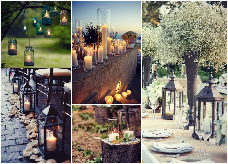 Outdoor Wedding Candles