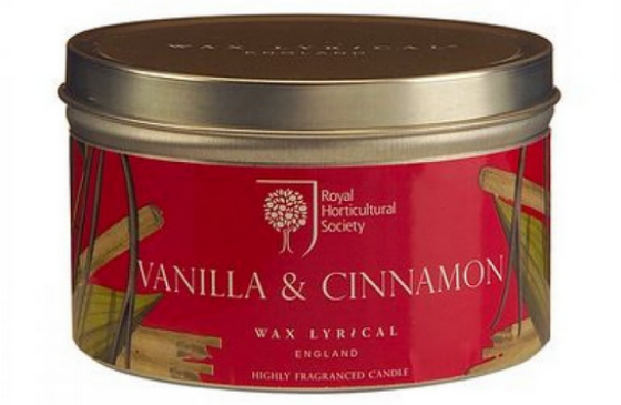 Special Edition Vanilla & Cinnamon Candle Tin from Wax Lyrical