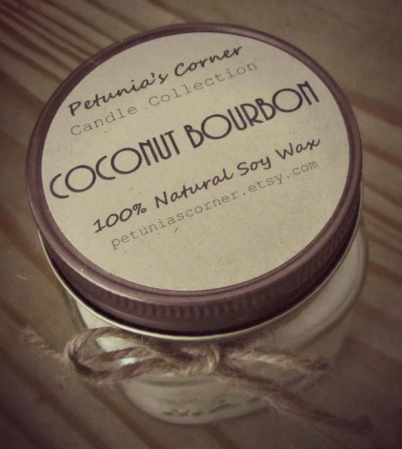Petunia's Corner Coconut Bourbon Candle