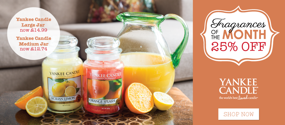 Yankee Candle Fragrances of the Month