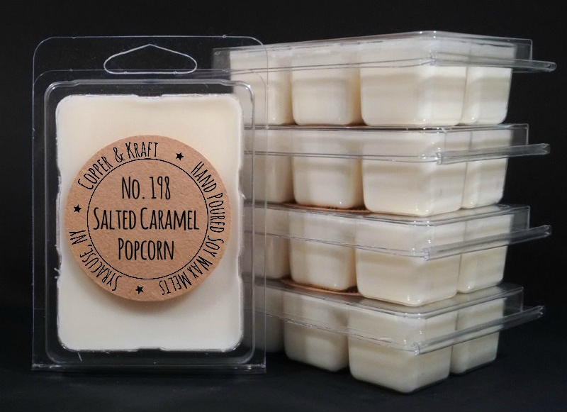 No. 198 SALTED CARAMEL POPCORN - Soy Wax Melt - Soy Wax Tarts - Highly Scented Wax Melts