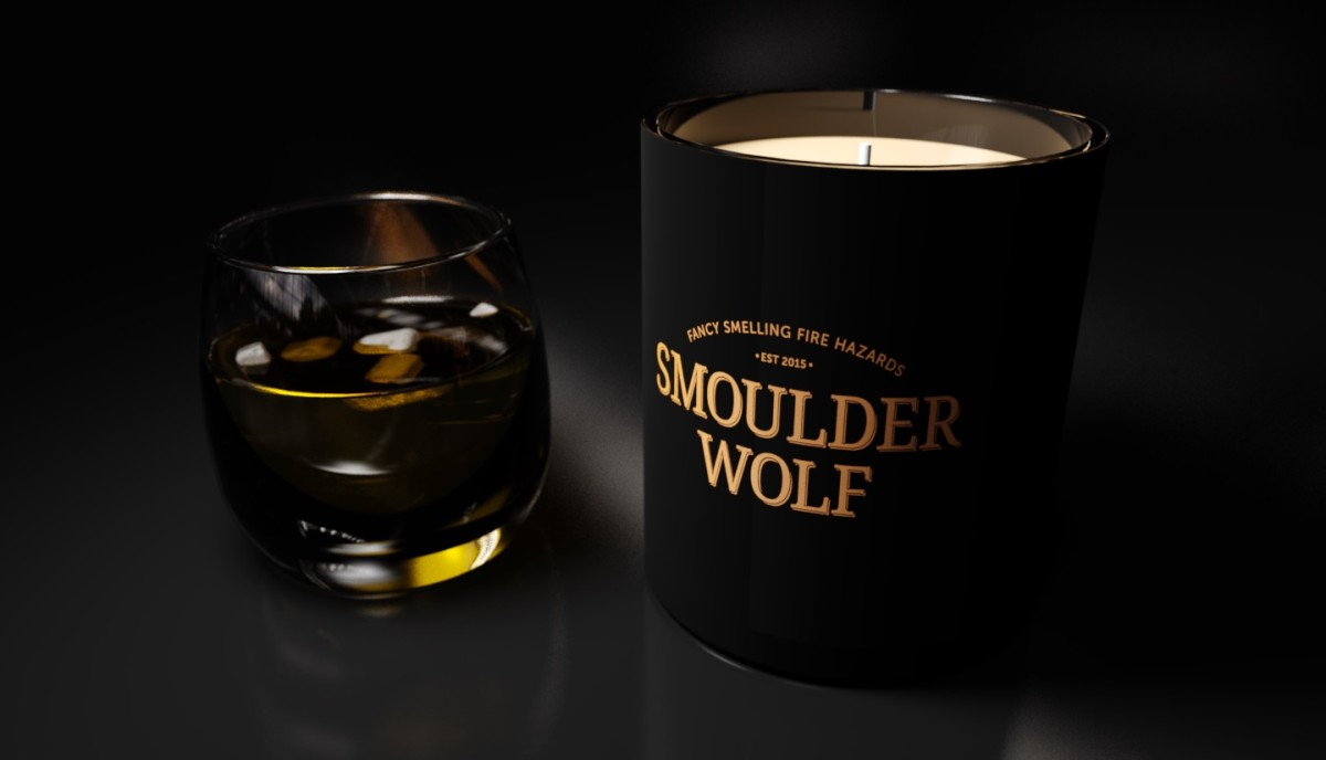 Bourbon Candle by Smoulder Wolf