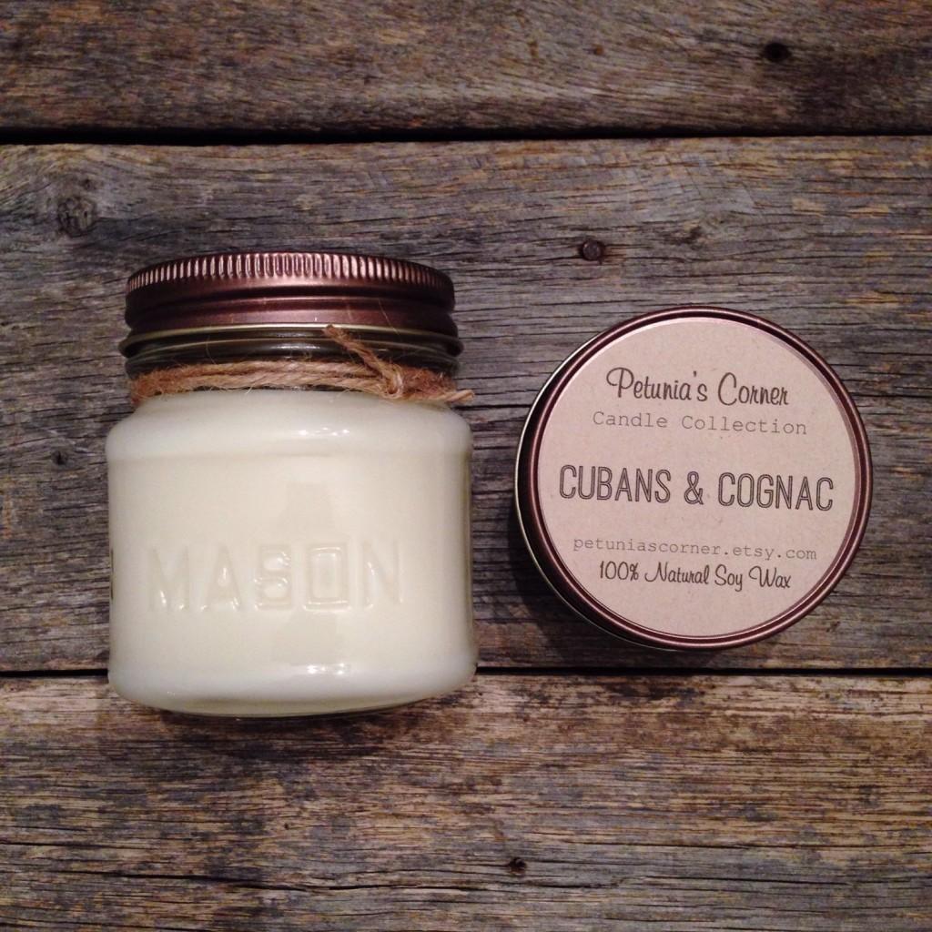 Petunia's Corner Cubans & Cognac Candle