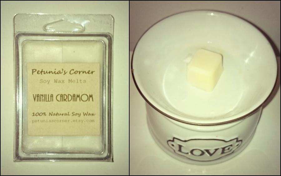 Petunia's Corner Vanilla Cardamom Wax Melts Review