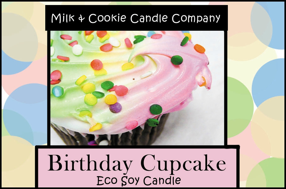 Buttercream Vanilla Birthday Cupcake Scented Eco-Soy Candle Tin