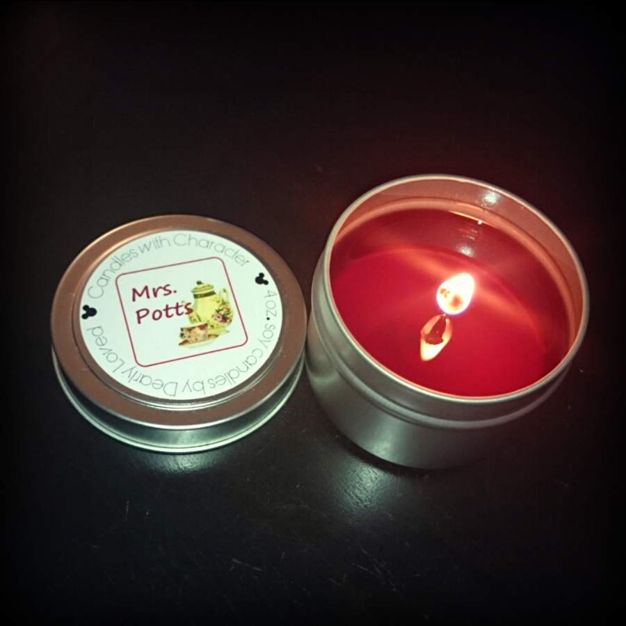 CANDLES WITH CHARACTER Mrs. Potts Candle Review