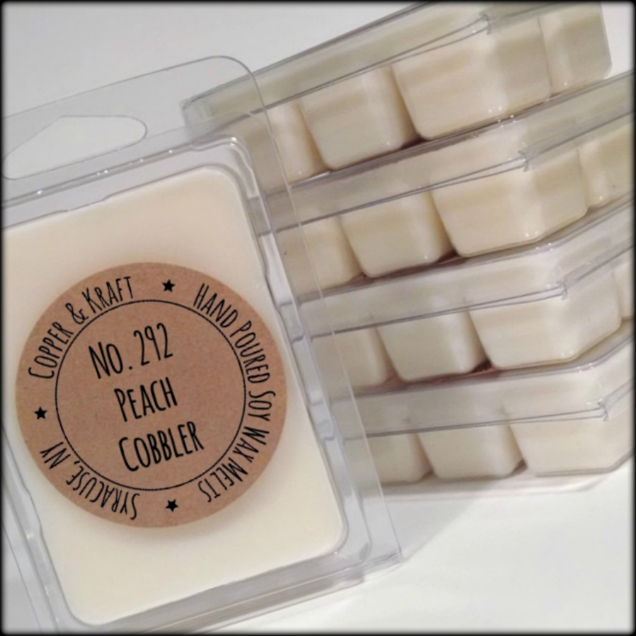 No. 292 PEACH COBBLER  Soy Wax Melt Soy Wax Tarts Highly Scented Wax Melts