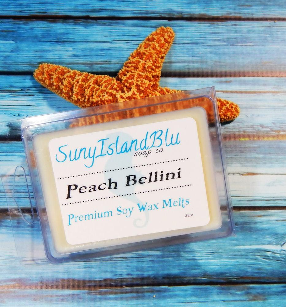 Peach Bellini Wax Melt - Soy Tart - Soy Melt - Peach Candle - Wax Warmer Tart
