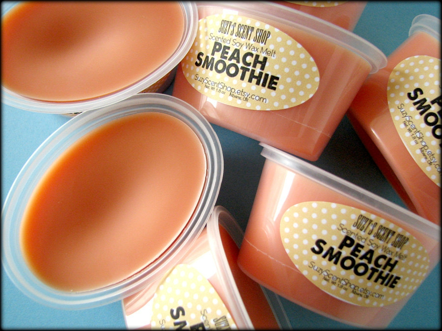 Peach Smoothie - Scented Soy Wax Melt - 2 Pack - Home Fragrance - Scent Shot - Fruit Scent