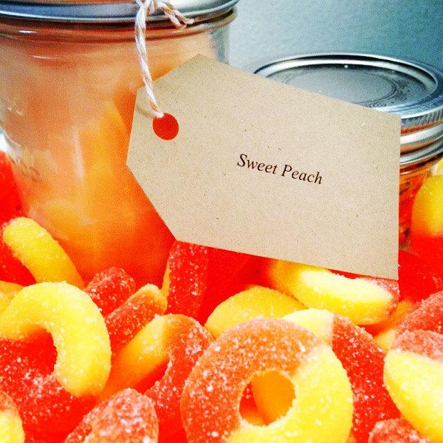 Sweet Peach Soy Candle in a Mason Jar