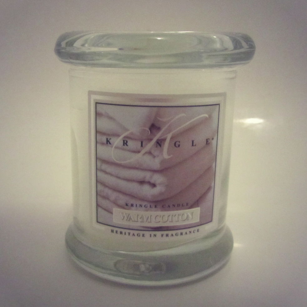 Warm Cotton Kringle Candle