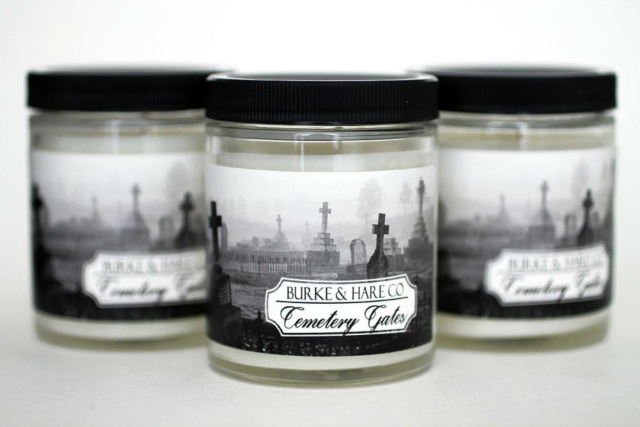 Cemetery Gates - Scented Candle - Halloween Candle