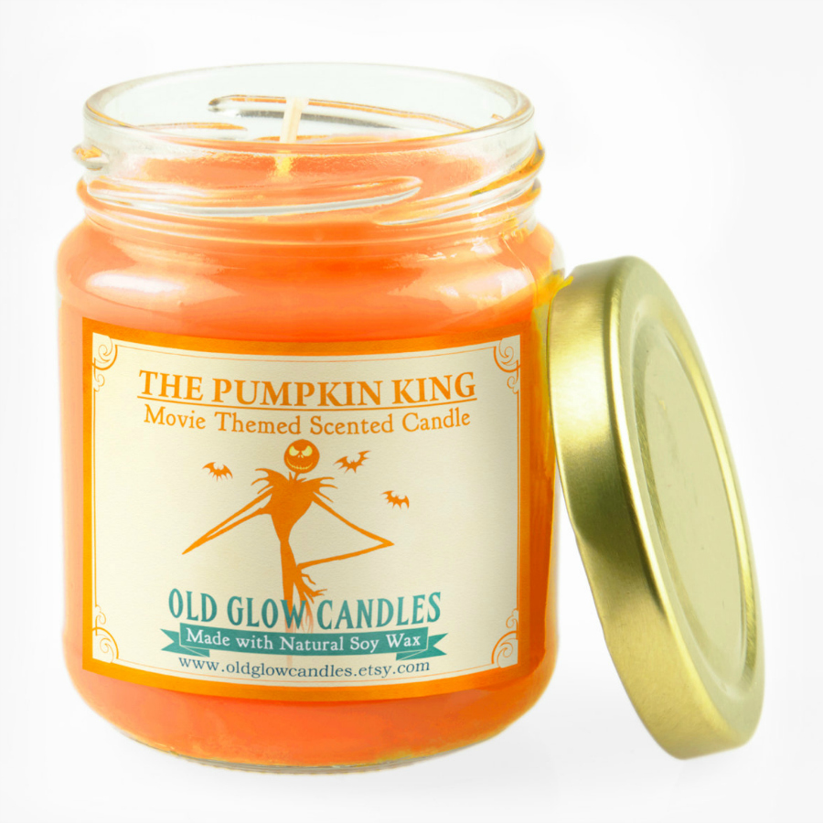 Pumpkin King Natural Scented Candle - Nightmare Before Christmas Inspired Halloween Candle