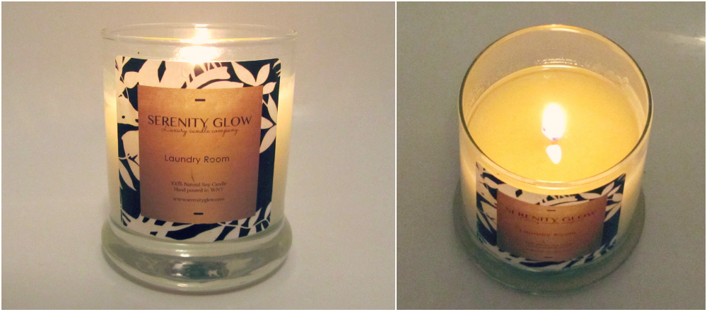 Serenity Glow Laundry Room Candle Review
