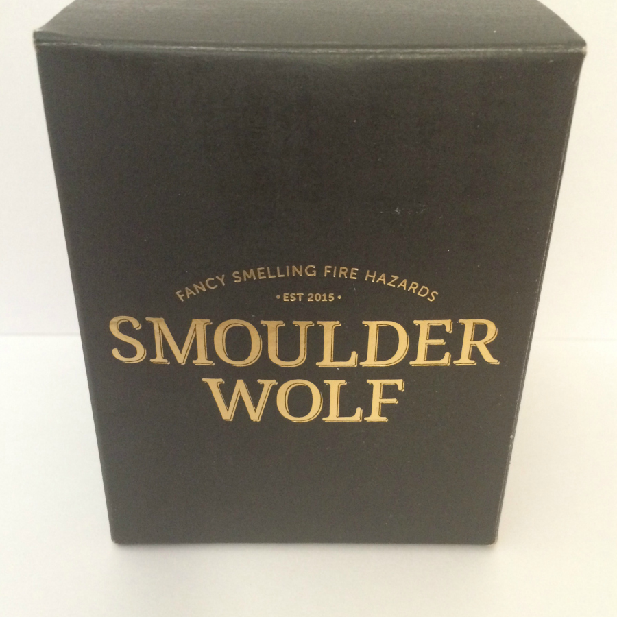 Smoulder Wolf Bourbon Candle Review 1