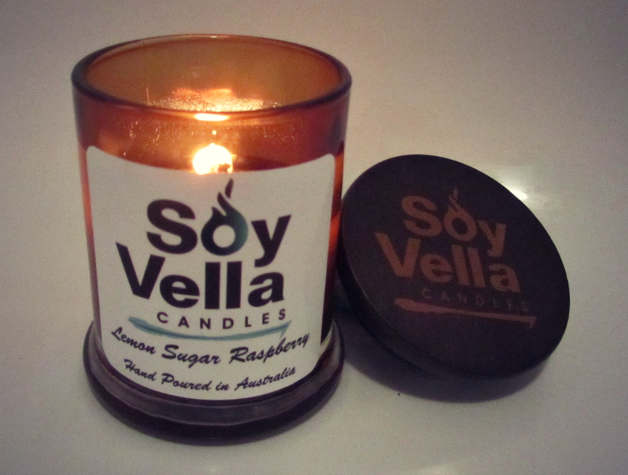 Soy Vella Lemon Sugar Raspberry Candle Review