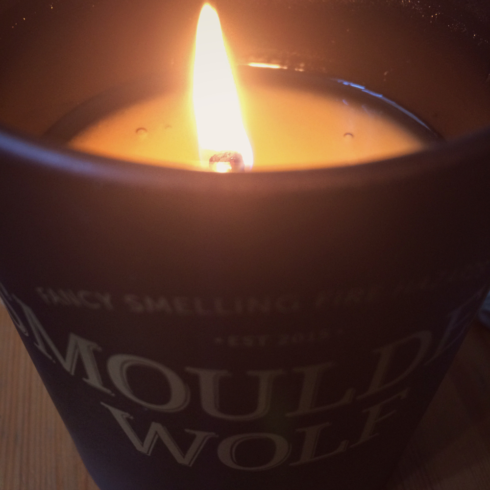Smoulder Wolf Leather Candle