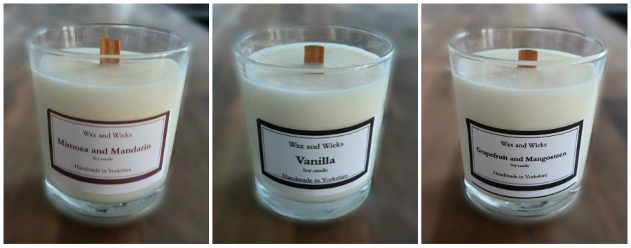 Wax and Whicks Wood Wick Candles