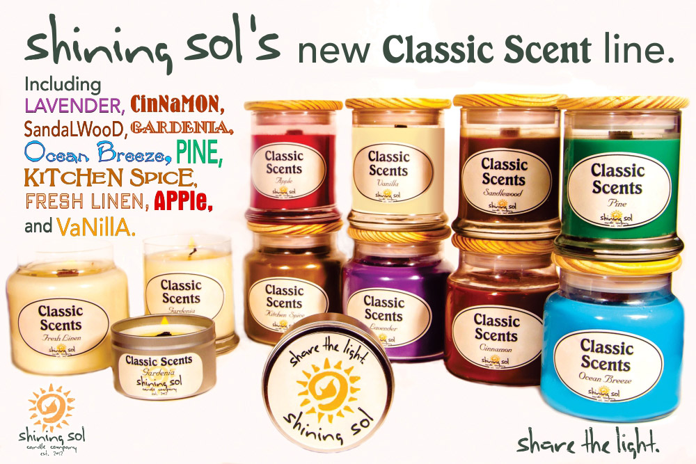 Shining Sol Candles Classic Scents