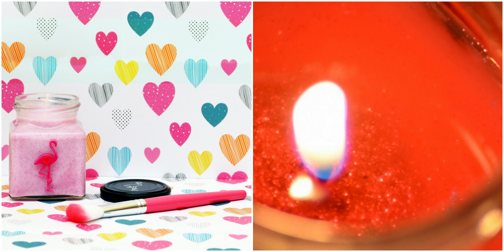Flamingo Candle Love Bug Glitter Valentine Candle