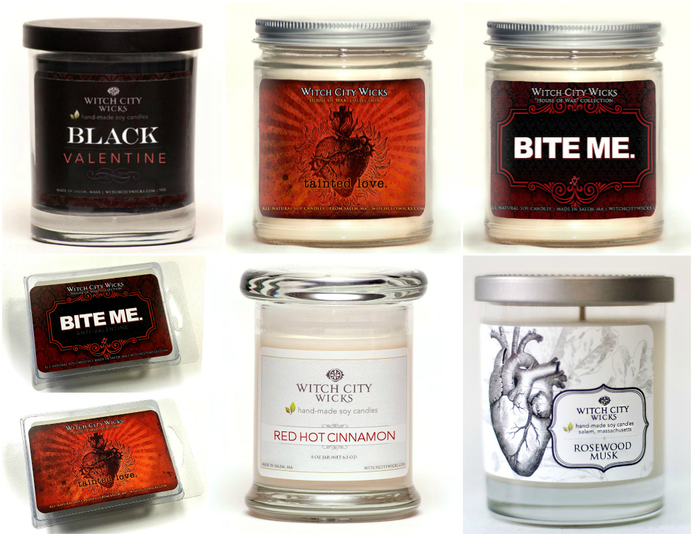 Witch City Wicks Valentine's Day Candles