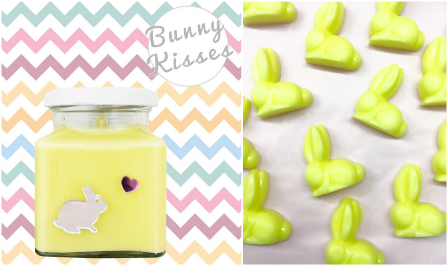 Bunny Kisses Flamingo Candles