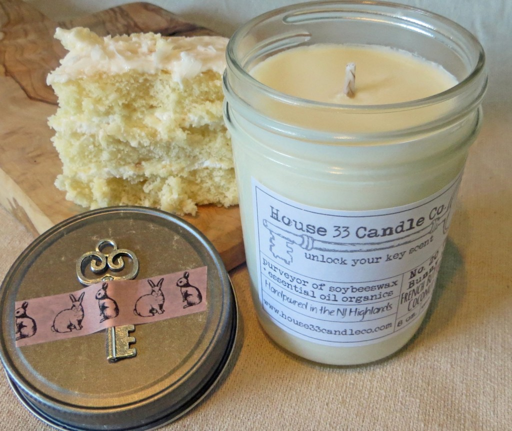 The Bunny Hut - French Buttercream Coconut Cake Soy Beeswax Candle