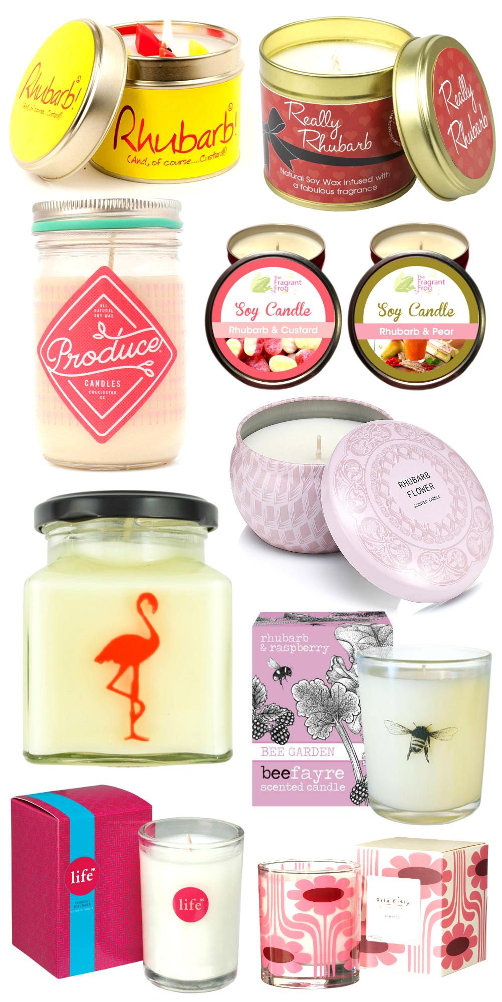 Rhubarb Candles