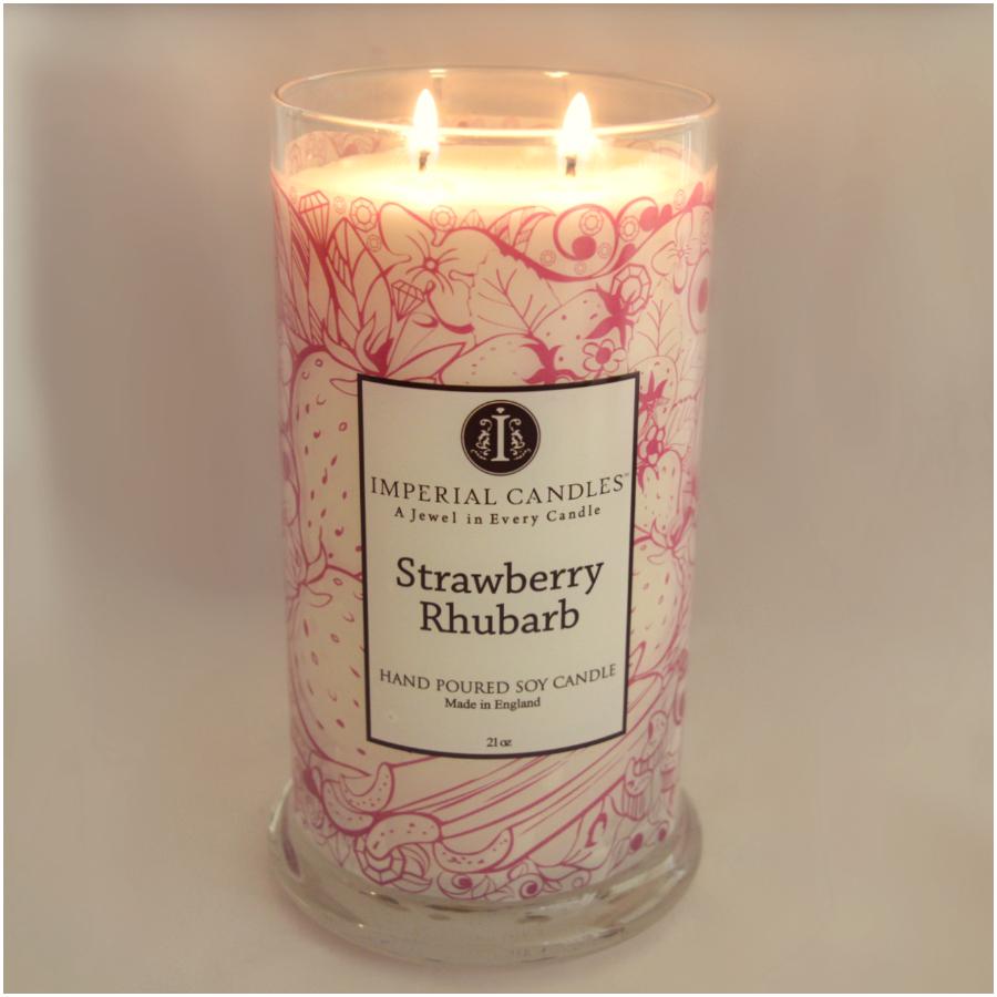 Strawberry Rhubarb Imperial Candle Review 1
