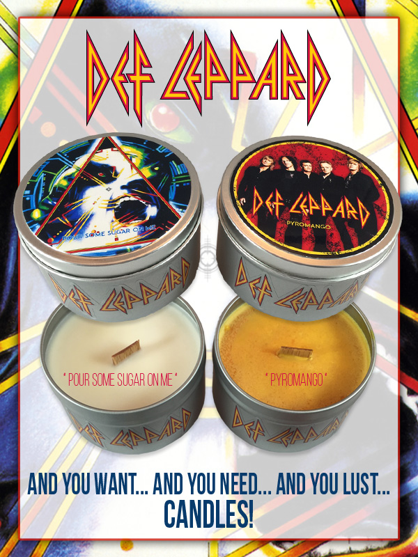 NEW Def Leppard Candles by Shining Sol Candle Co.